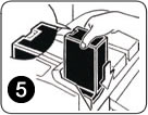 Insert the new Gestetner DSC332 toner cartridge