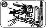 Remove the used canon C2880 toner
