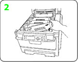 Remove the used okidata c9600 toner