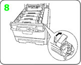 Lock the okidata c9600 toner